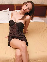 Cute Asian shemale in mini skirt